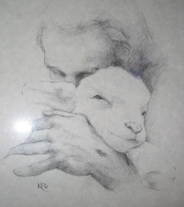 Jesus and lamb small